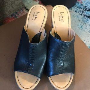 Black wedge sandals BOC